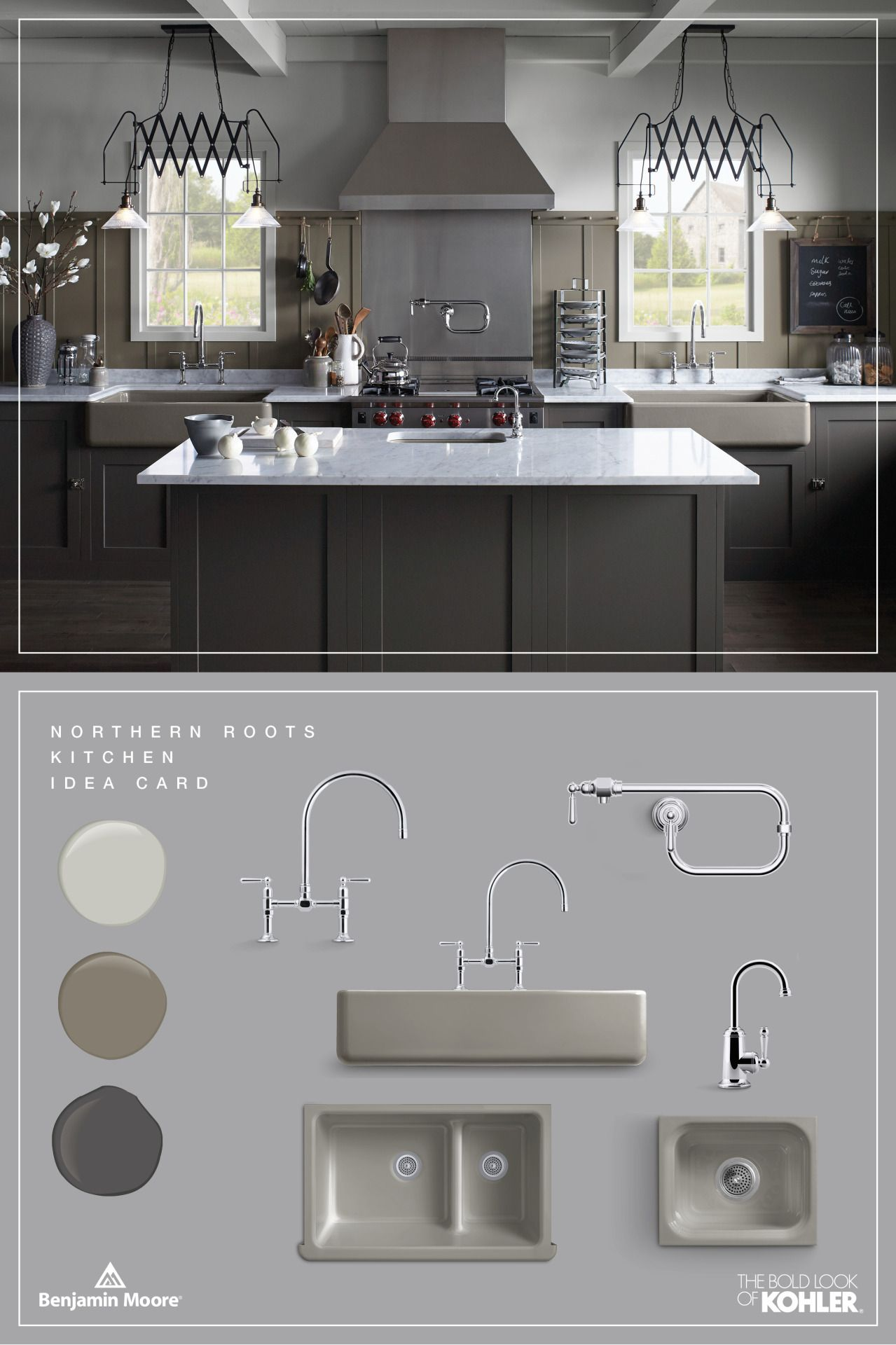 The Bold Look of | Pinterest | Stonington gray, Benjamin moore paint ...