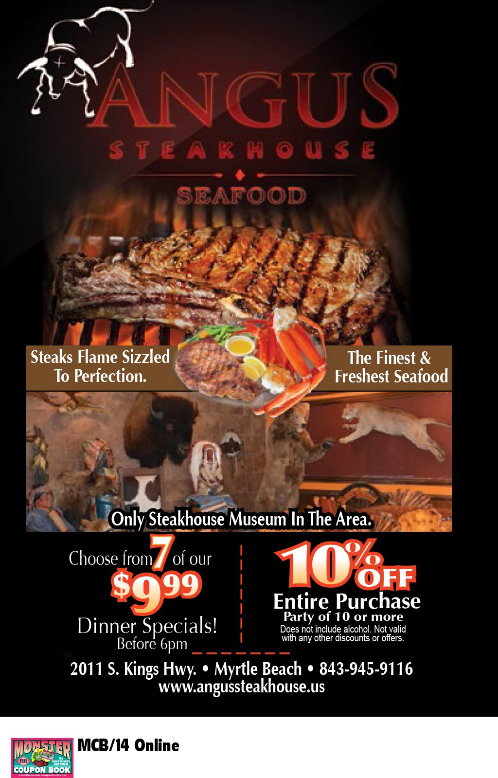 Angus Steakhouse And Seafood Myrtle Beach Resorts
