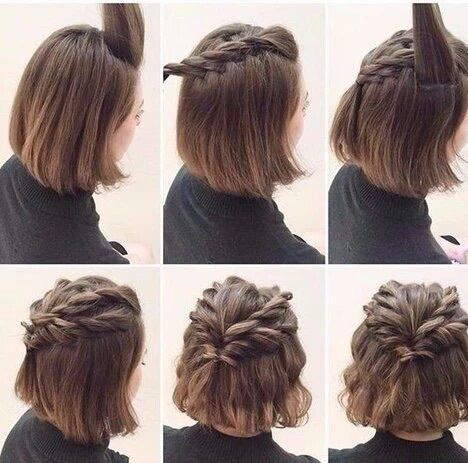 Twist French Braid Cute Hairstyles For Short Hair Short Hair Styles Braids For Short Hair