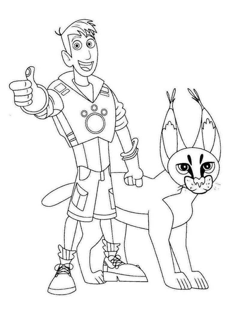 Wild Kratts Coloring Pages Pdf Printable Wild Kratts Coloring Page To Download And Coloring Here Is A Free Coloring Page Of Wild Kratts Choose The Right Wil