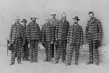 Photos Of Prison In The 1800 S Prisoners In Utah C 1885 Wearing