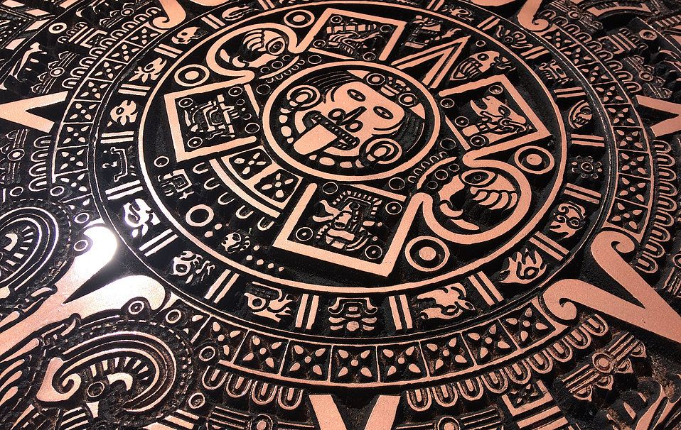 24 Wide Aztec Calendar Milled On Our Cnc Machine And Finished In