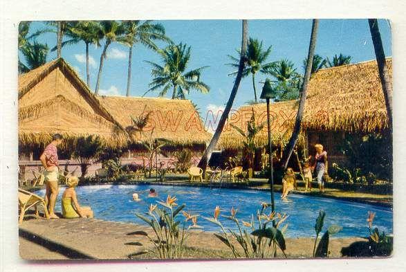 Hawaiian Village Kaiser Burns Hotel Waikiki Hawaii Pool View