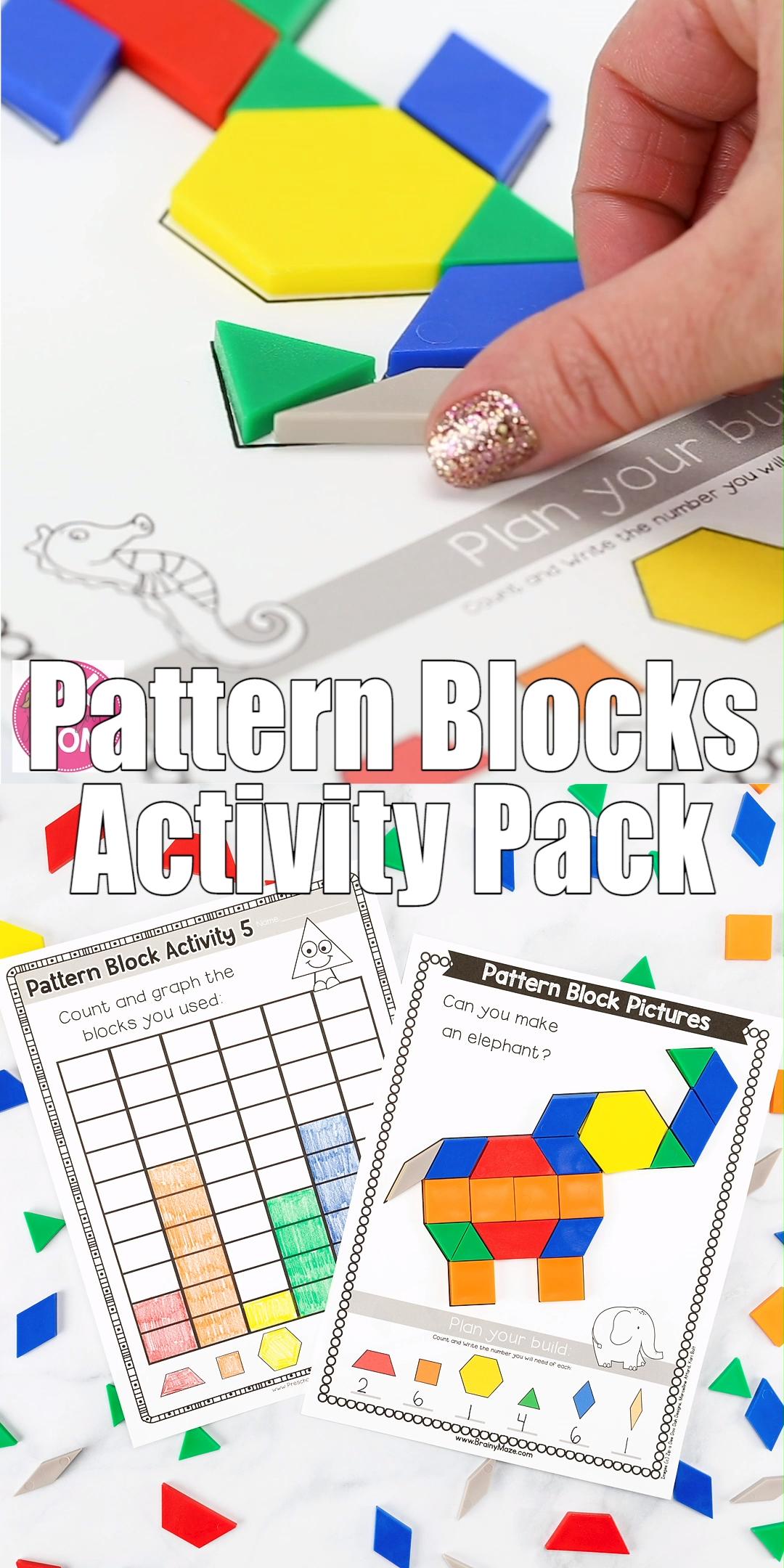 Pattern Block Activity Pack Video Video Pattern Blocks Activities Pattern Block Templates Pattern Blocks [ 2160 x 1080 Pixel ]