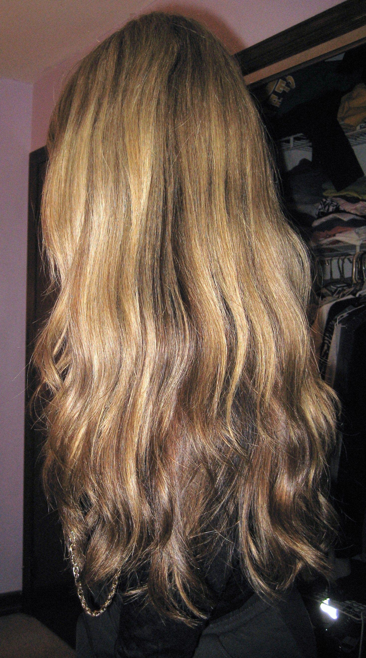 Long caramel hair