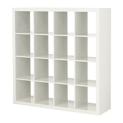 "58 5/8"" $59 High Gloss White EXPEDIT Shelving Unit IKEA"