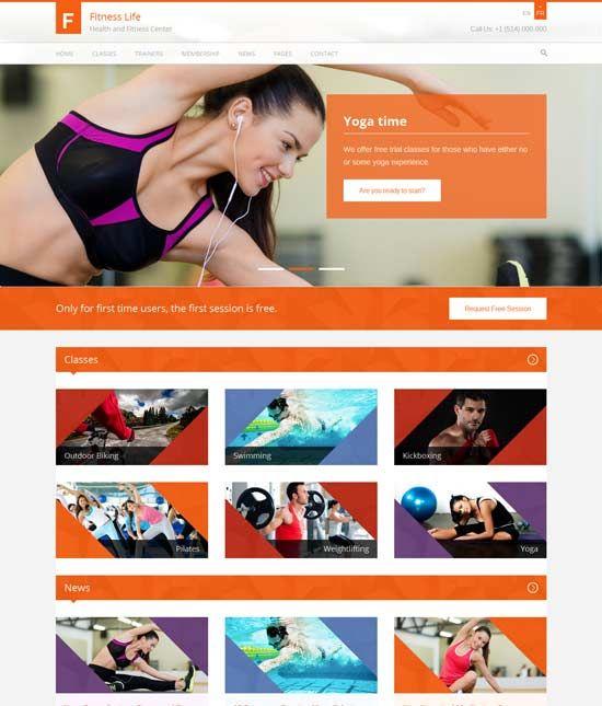 Free U0026 Premium Fitness Website Templates Are Designed Mainly For Fitness  And Gym Sport Club Website.