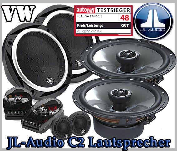 VW Passat B6 Auto Lautsprecher Set, Testsieger JL-Audio C2-650 + C2 ...
