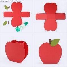 Zauberhafte Apfelschachtel #diadelmaestro