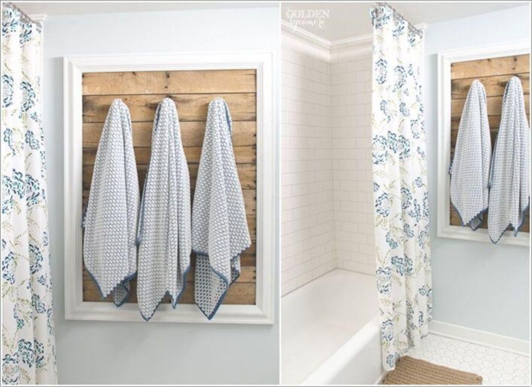 30 Diy Towel Holder For Your Bathroom With Images Towel Holder