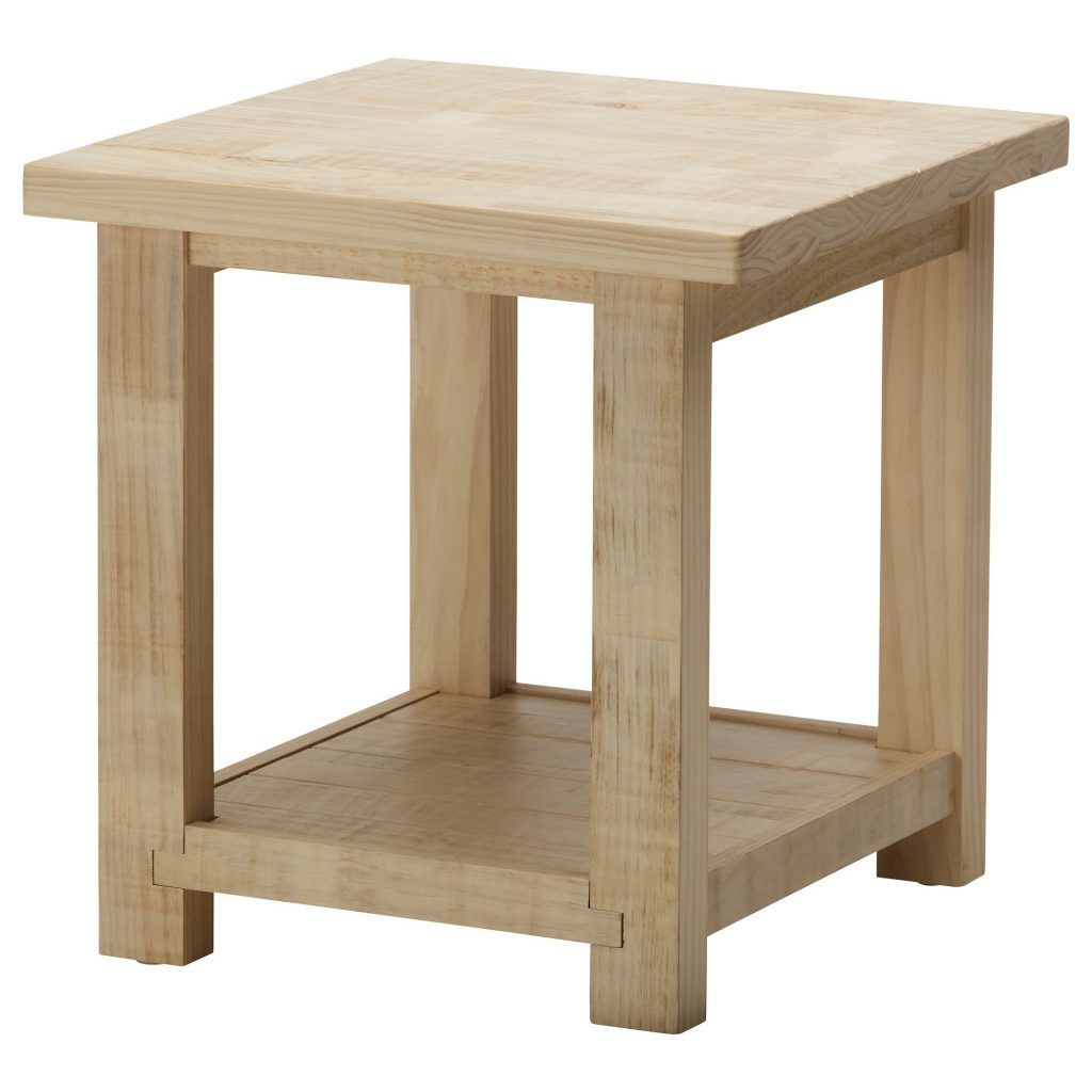 Best Interior Rustic Unfinished White Oak Side Table With 400 x 300