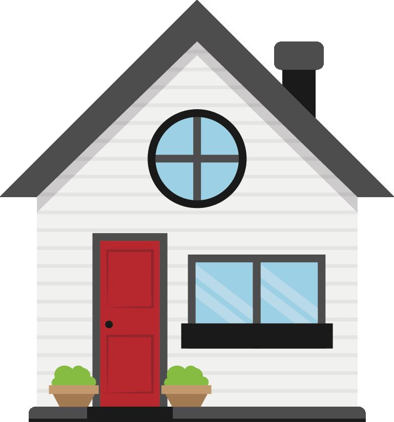 Building Refinancing Service House Car Home Cartoon Referensi Desain Rumah Pola Doodle