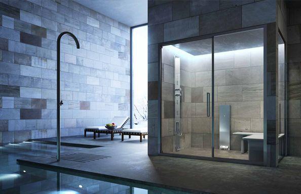 Box idromassaggio, sauna e bagno turco | Aqua & Vetro | interni ...
