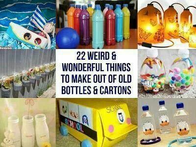 Diy Plastic Bottle Crafts Activities For Kids Pinterest