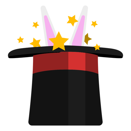 Rabbit In Magician Hat Icon Transparent Png Svg Vector Magician Hat Hat Icon Graphic Design Art