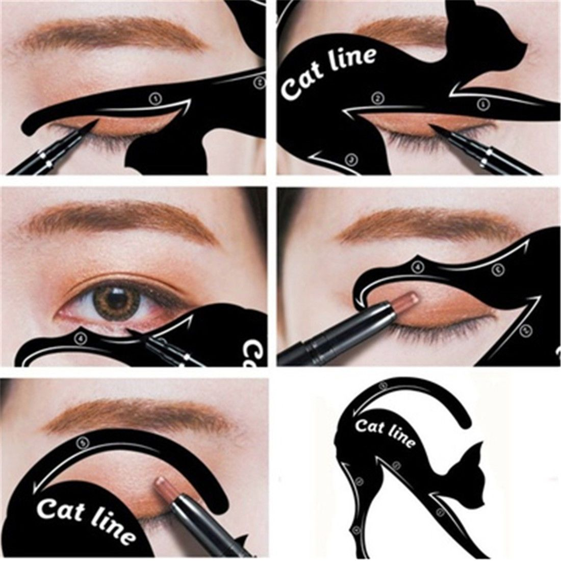 how to make eyeliner stencil at home