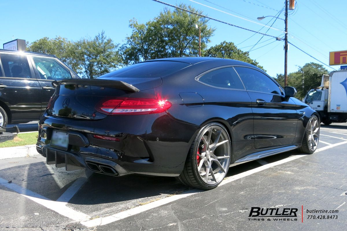 Lowered Mercedes C53s With 20in Stance Sf07 Wheels Mercedes C Class Stance