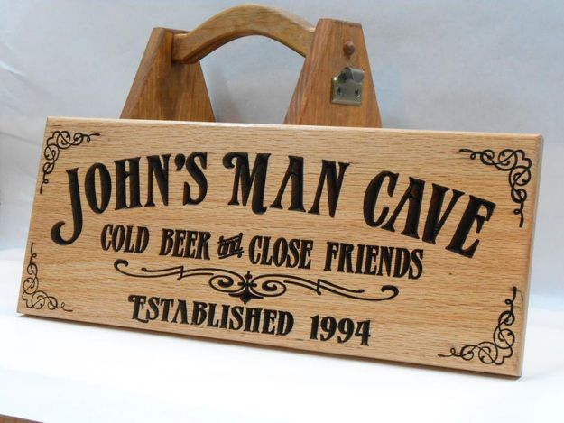 Engraved Man Cave Signs : Personalized man cave sign community post hoppy