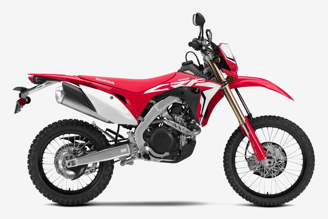 2019 Honda Crf450l Motorcycle This Motocross Ready Dirt Bike Is Street Legal In All 50 States Go To Source Author Adventure Bike Adventure Motorcycling Honda