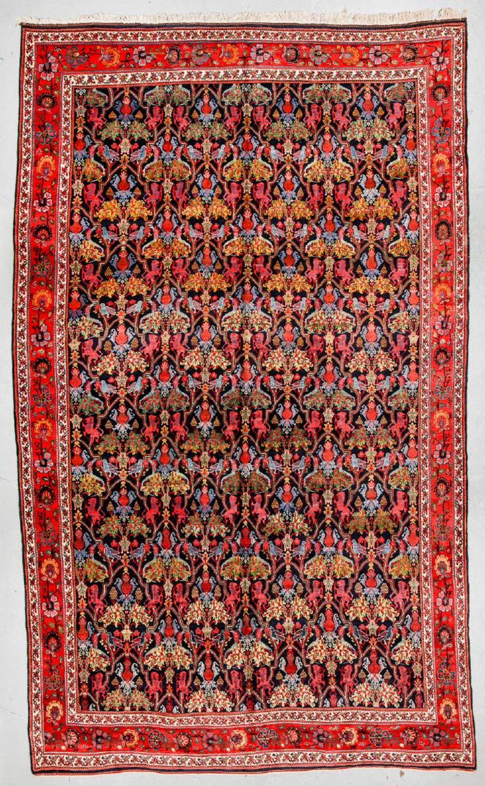 Fine Antique Bidjar Lion Rug Persia 12 11 X 20 10 Rugs On Carpet Rugs Antique Carpets