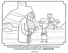 download this free coloring page of samuel anointing david to be the next king of israel