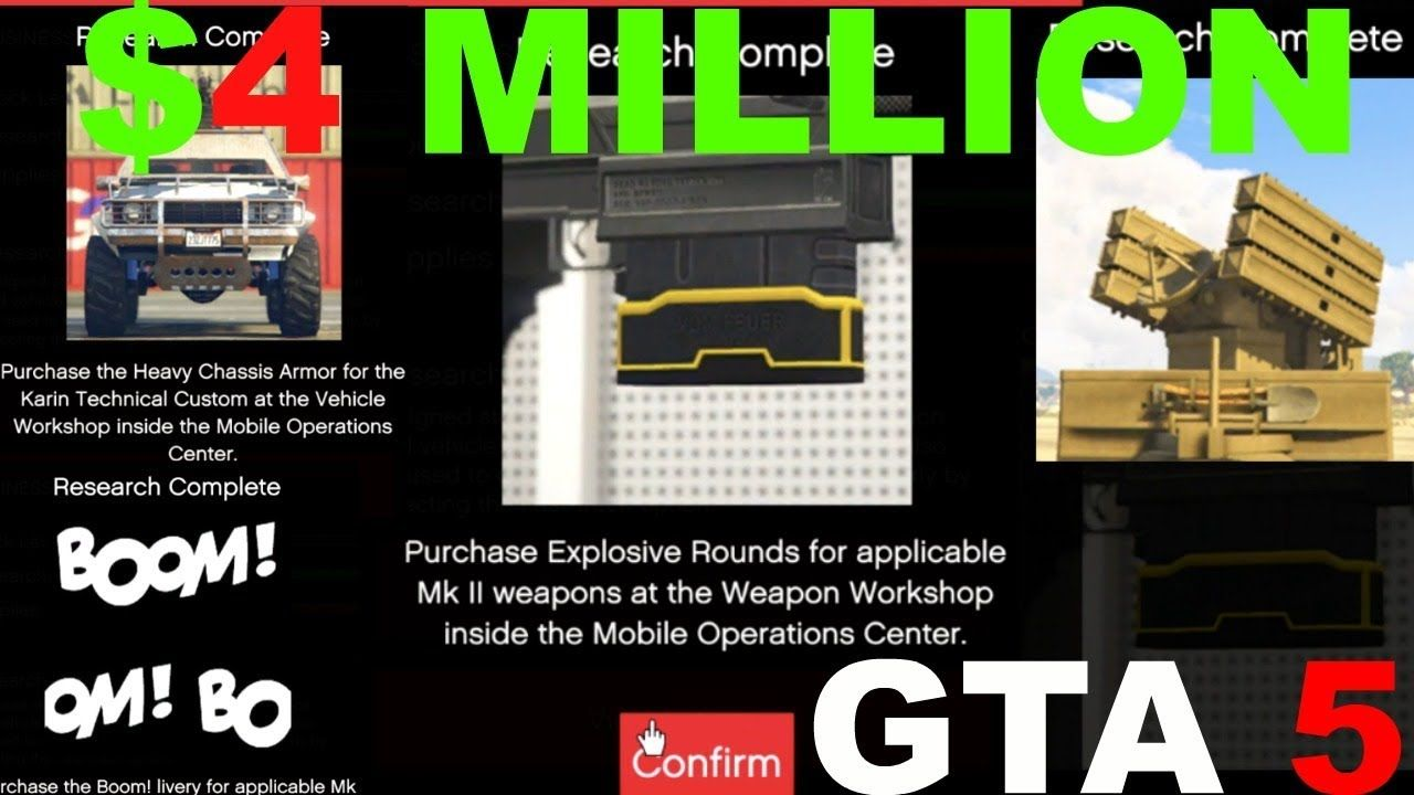 GTA 5 EXPLOSIVE BULLETS GUNRUNNING DLC FAST TRACK RESEARCH 4