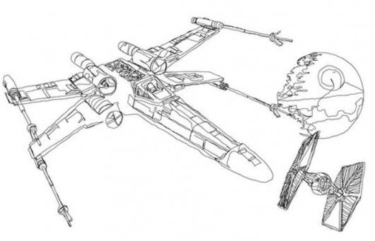 Star Wars Coloring Pages X Wing | Star Wars | Pinterest | Star and ...