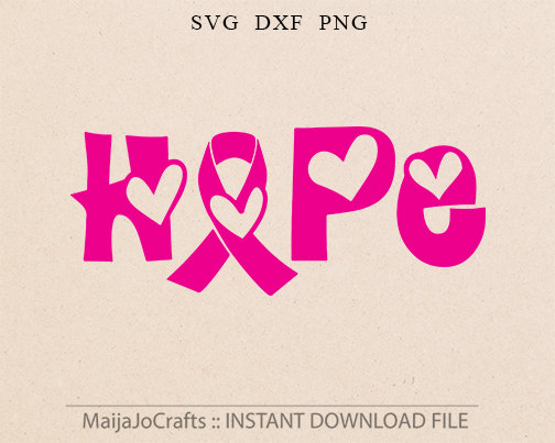 Awareness Ribbon SVG File HOPE Cutting Template by MaijaJoCrafts