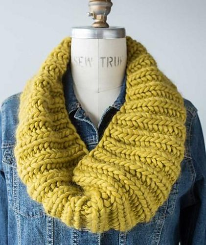 Fisherman S Rib Cowl In Four Gauges Pattern By Churchmouse