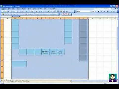 Microsoft Excel #02 Create a Seating Chart B Pinterest - office seating plan template
