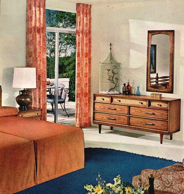 Sherwin Williams 1963 Mid Century Modern Interiors Retro Bedrooms Retro Home Decor