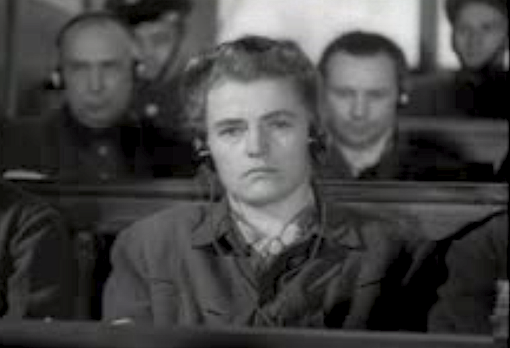 Maria Mandl at trial. Mandl's favorites for execution were children. She enjoyed the selection process for execution so much that she even created an orchestra that would play when prisoners came to the camp and on their way to be executed.