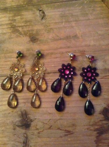 Tarina Tarantino chandalier drop earrings - 2 pairs (olive and navy) -swarovski - http://elegant.designerjewelrygalleria.com/tarina-tarantino/tarina-tarantino-chandalier-drop-earrings-2-pairs-olive-and-navy-swarovski/
