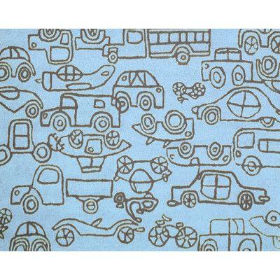 notNeutral Kids Transport Ozone Blue/Sable Area Rug Rug Size: