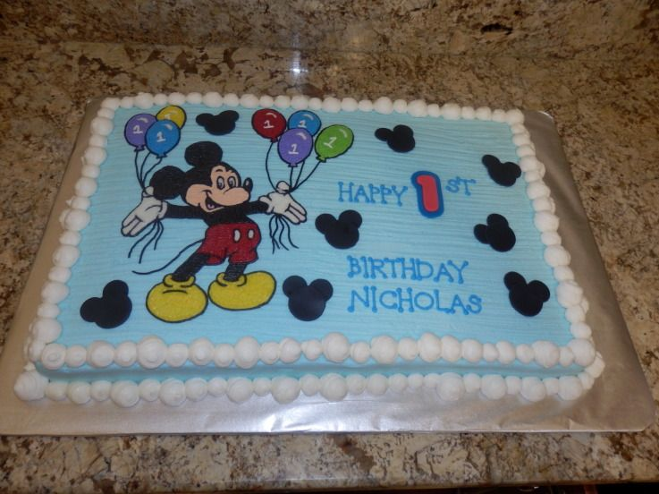 Mickey Mouse Cakes Mickey Mouse Full Sheet Cake With Images