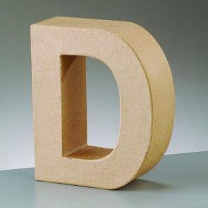 Lettre D en carton hauteur 10 cm | Femme2Deco