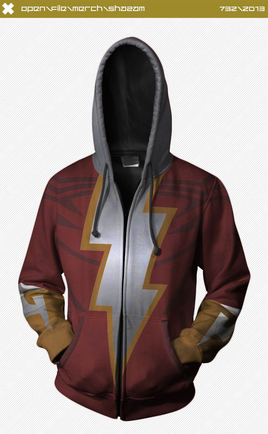 40ac01719c Shazam Hoodie by seventhirtytwo on deviantART I love this!! CONCEPT ONLY,  SADLY NOT FOR SALE