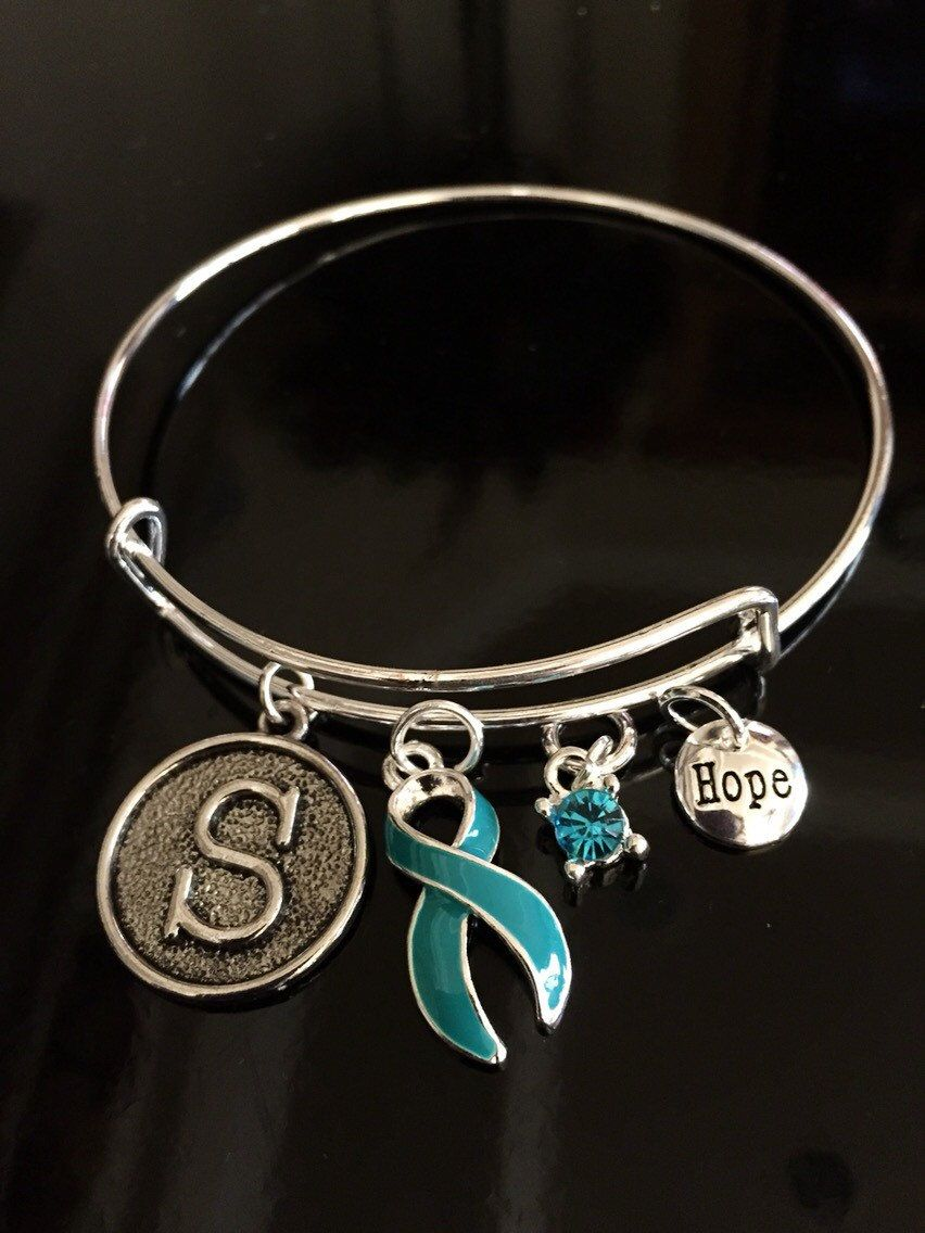 pots teal christ neuralgia bracelet myasthenia charm ribbon cancer through ptsd trigeminal ovarian scleroderma pin anxiety gravis