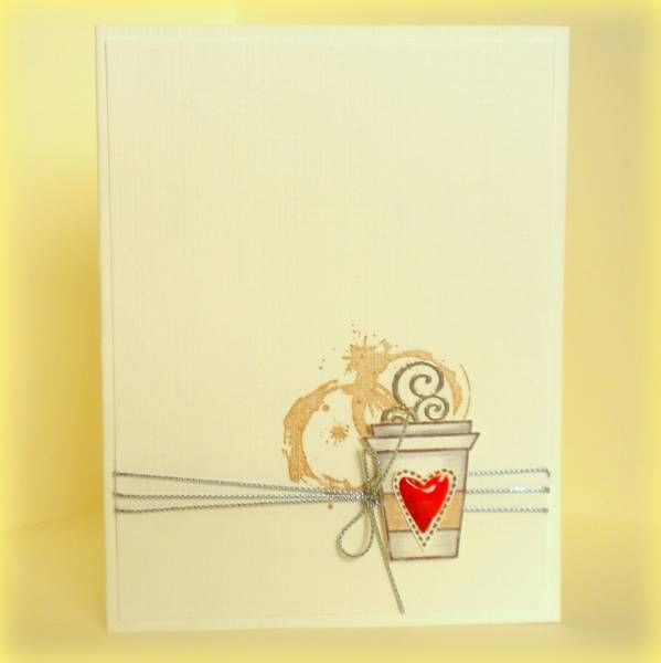 Caffeine Rules by 4beccaw - Cards and Paper Crafts at Splitcoaststampers  Could this be cuter??? LOVE the spilled coffee!