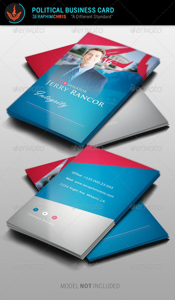 Political Election Business Card Template Card templates - political brochure