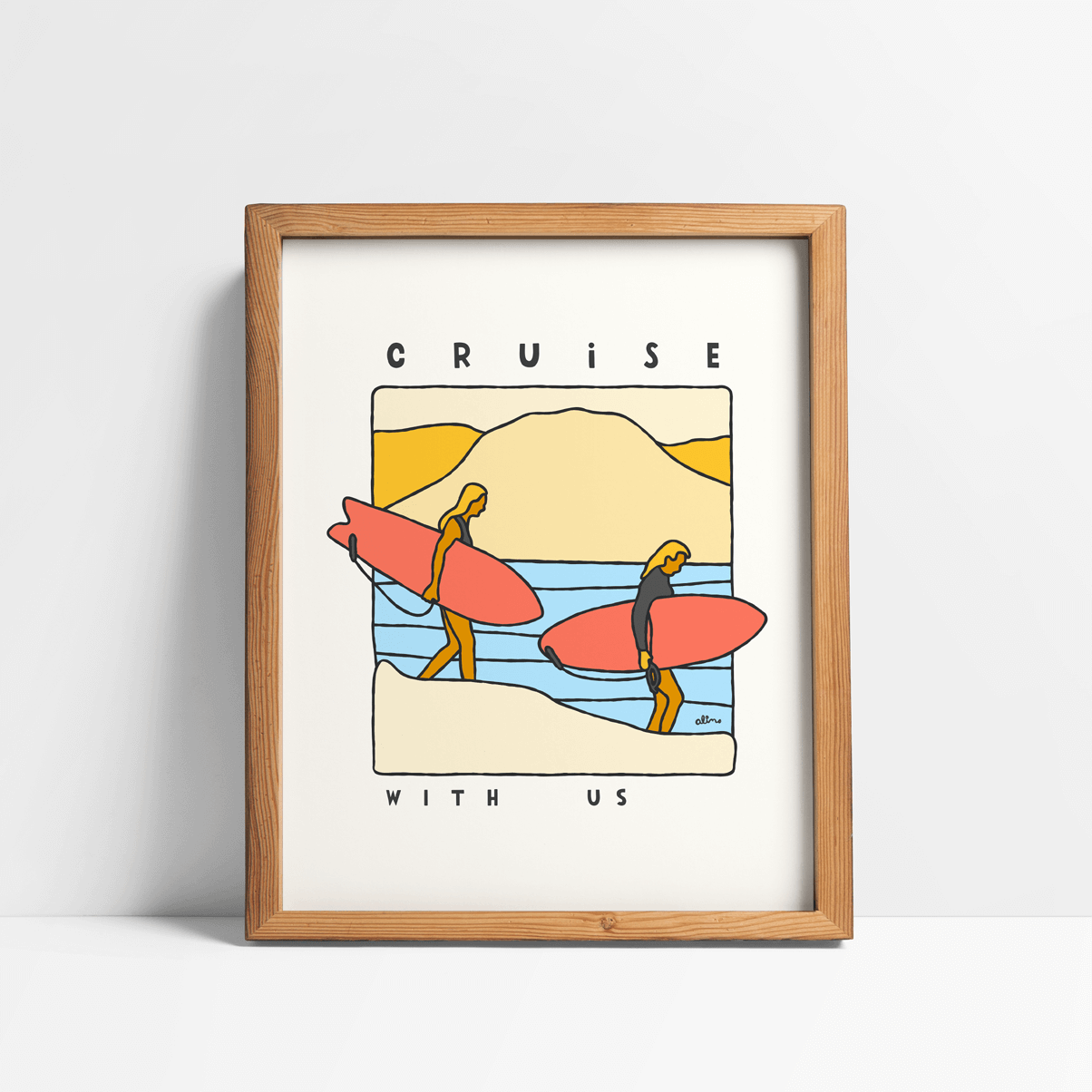 Cruise With Us Art Print