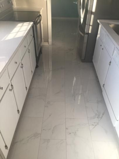 Msi Carrara 12 In X 24 In Glazed Porcelain Floor And Wall Tile 16 Sq Ft Case Nhdcar1224 Porcelain Tile Floor Kitchen Flooring Porcelain Flooring