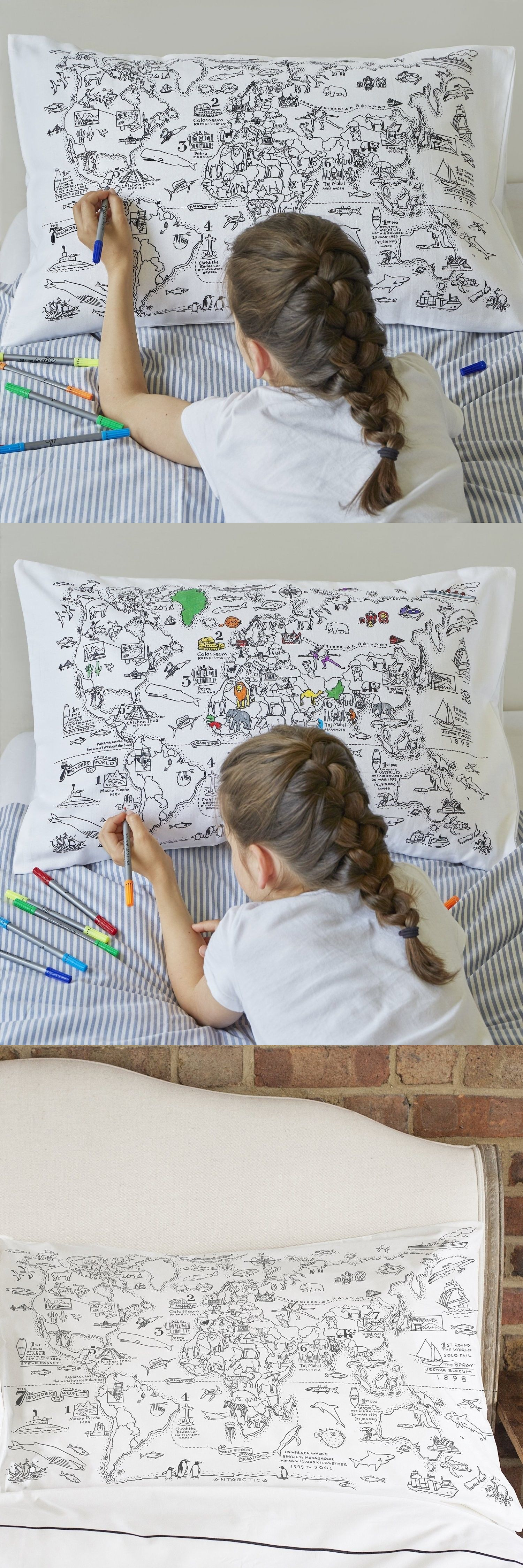 Pillowcases 115628 doodle world map pillowcase color your own pillowcases 115628 doodle world map pillowcase color your own pillow case coloring pillowcase gumiabroncs