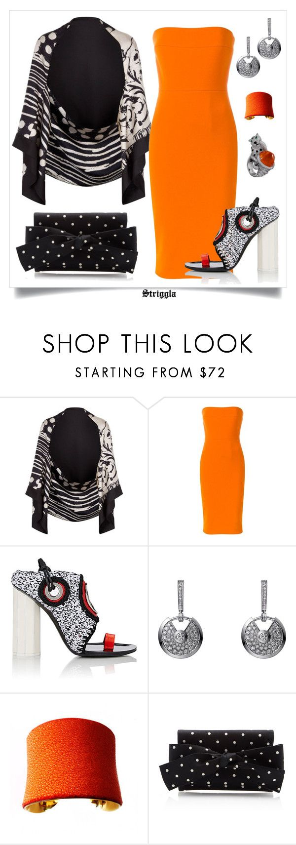 """party"" by striggla ❤ liked on Polyvore featuring Bianca Elgar, Victoria Beckham, Proenza Schouler, UNEARTHED, Oscar de la Renta, party, polyvoreeditorial and mi"