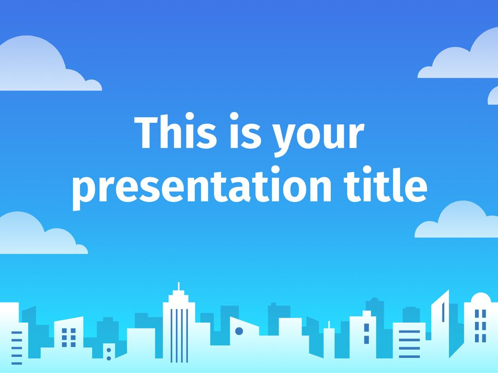 free powerpoint template or google slides theme with illustrated