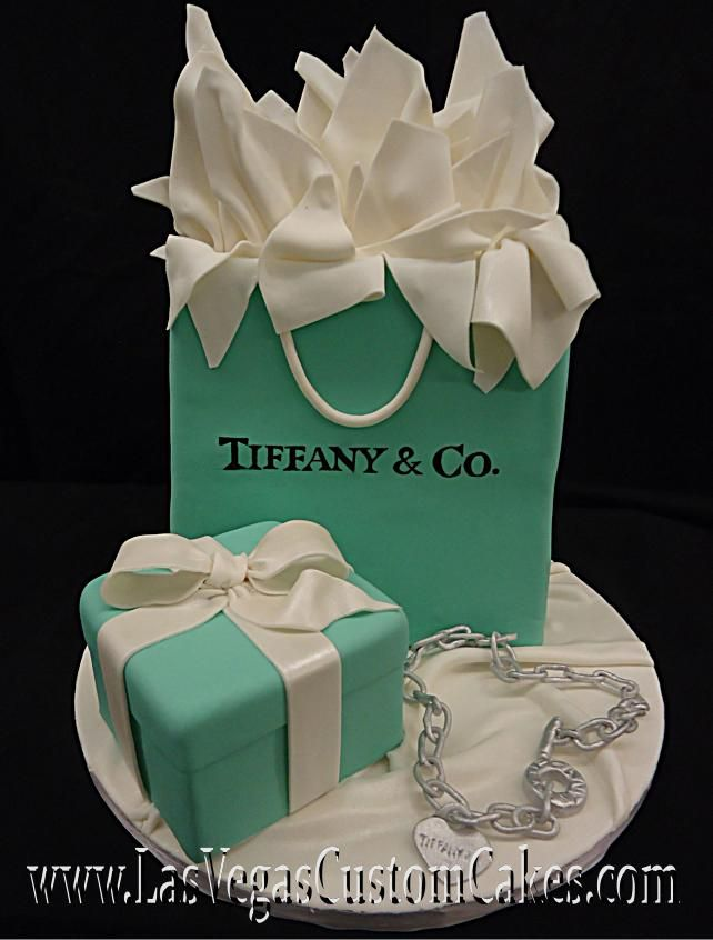 Tiffany Shopping Bag Cake Pacco Regalo Decorazioni Dolci