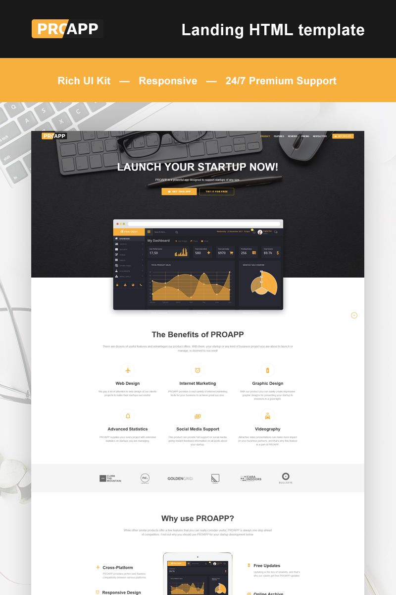 Mobile App Landing Page HTML5 Template