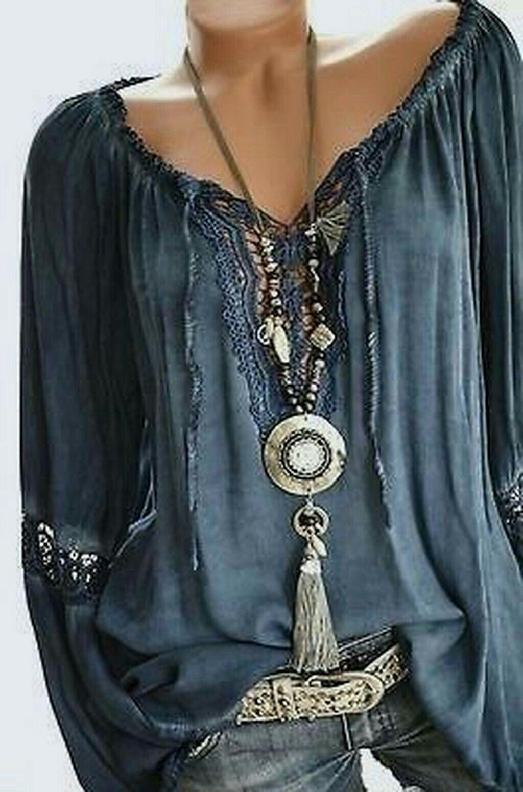 Bohemian jewelry | boho | Roupas hippie, Roupas bordadas ...