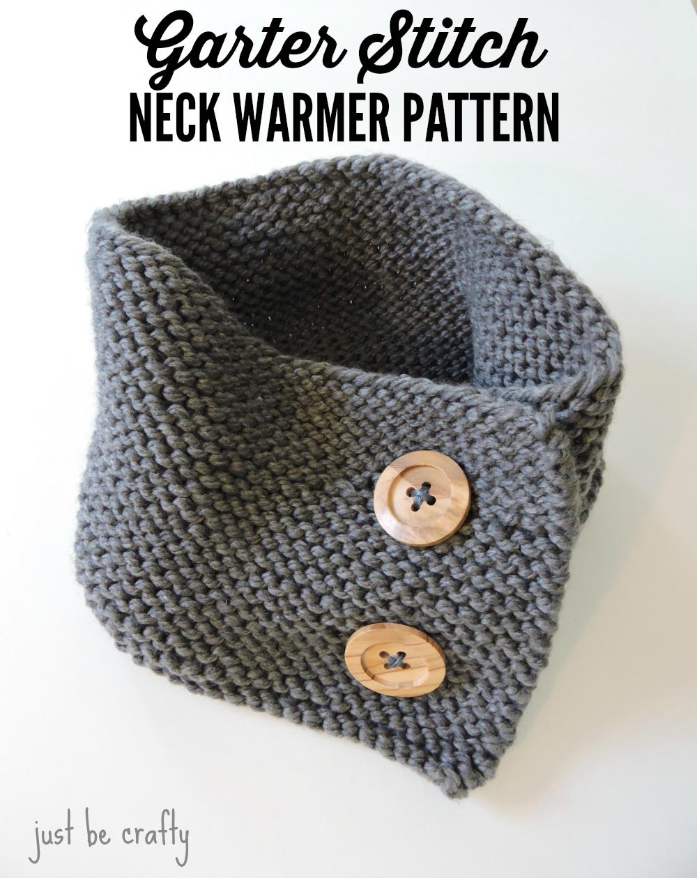 Garter stitch button up neck warmer neck warmer stitch and knit garter stitch button up neck warmer knit cowl patternscrochet bankloansurffo Choice Image
