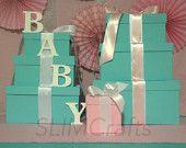 Breakfast At tiffany/Baby & Co Boy Centerpiece Set by SlimCrafts